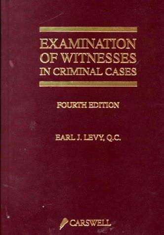 Download Examination of witnesses in criminal cases