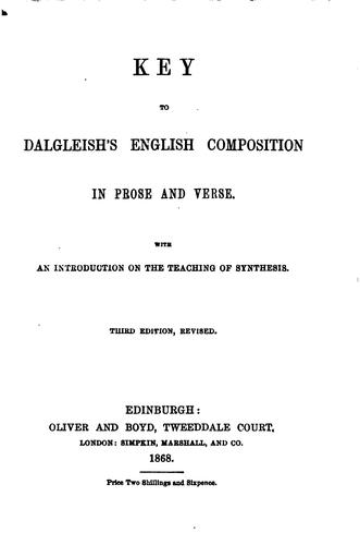 English composition in prose and verse, based on grammatical synthesis. With Key