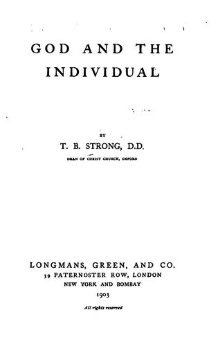 God and the Individual