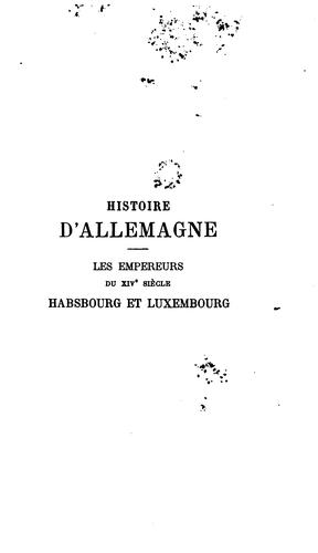 Histoire d'Allemagne. 1-7. No more publ. Vol. 1,2 are of the 2nd ed.