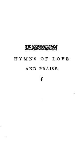 Hymns of love and praise for the Church's year