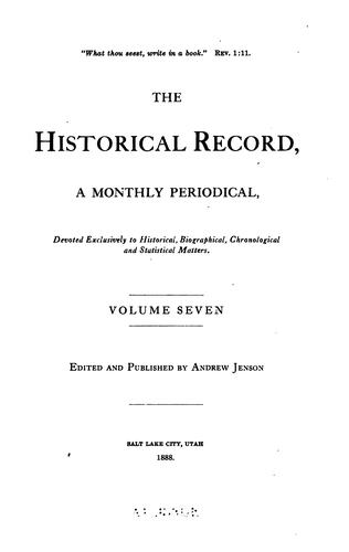 Download The Historical Record