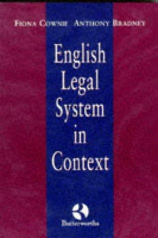 The English Legal System in Context