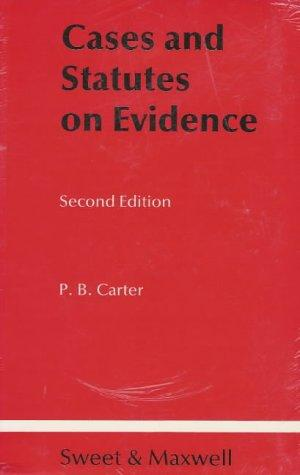 Download Cases and Statutes on Evidence