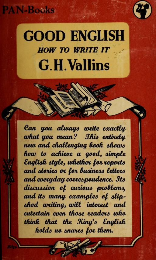 Good English by George Henry Vallins