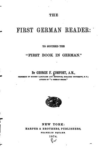 The First German Reader by George F. Comfort