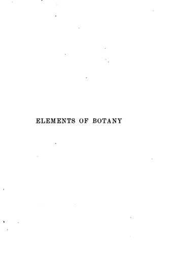 The elements of botany by John Hutton Balfour