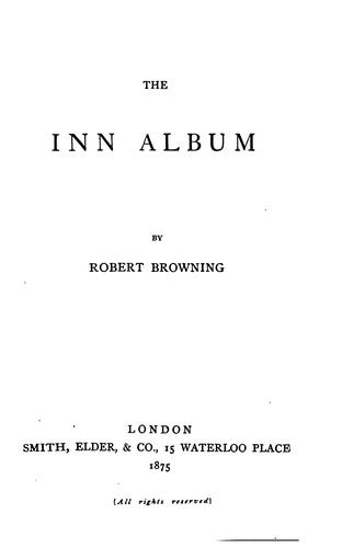 The Inn Album by Robert Browning
