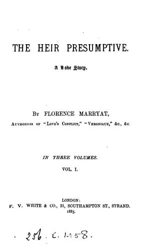 the heir presumptive by Florence Marryat